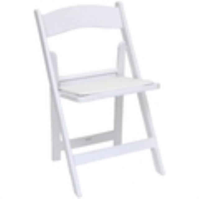 Where to find GARDEN CHAIR, WHITE RESIN in Palatine