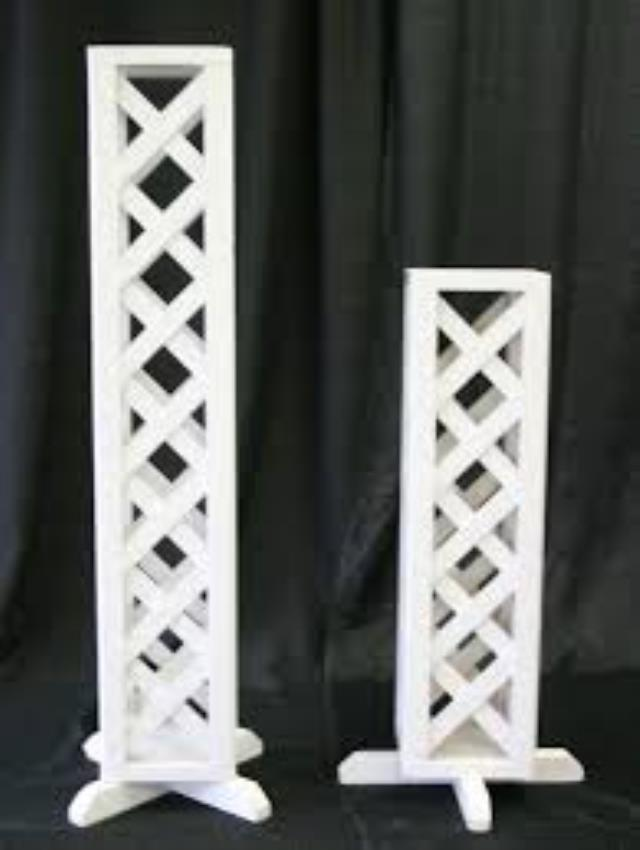 Where to find WHITE LATTICE WEDDING  24  PLANT STAND in Palatine