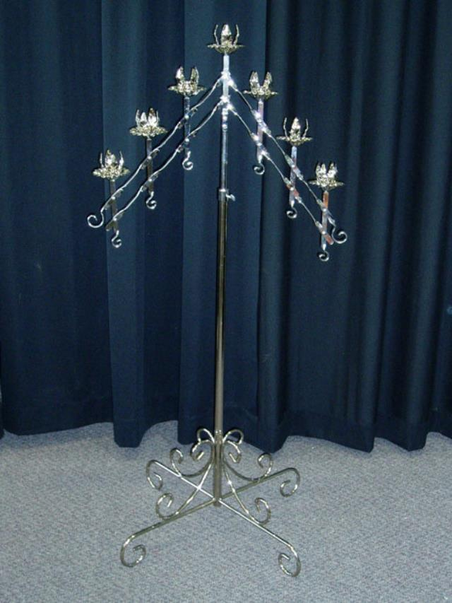 Where to find WEDDING 7 BRANCH CANDLE-SILVER PAIR in Palatine