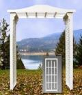 Rental store for WHITE LATTICE WEDDING ARCH-FLAT TOP in Palatine IL