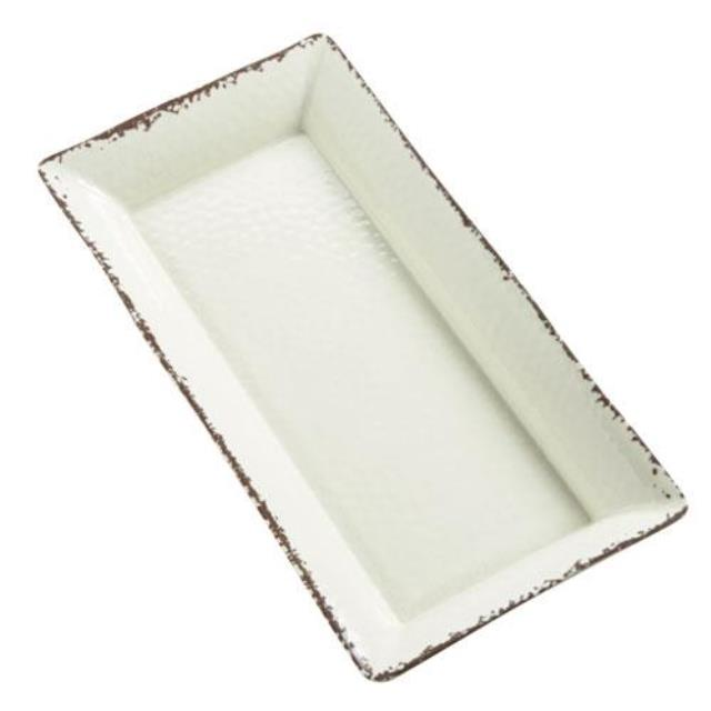 Where to find MELAMINE ANTIQUE IVORY PLATTER, 18  X 8 in Palatine