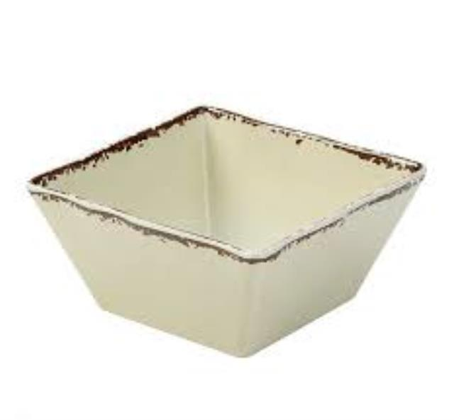 Where to find MELAMINE ANTIQUE IVORY SQUARE BOWL, 58oz in Palatine