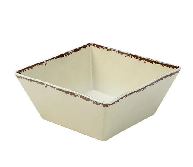 Where to find MELAMINE ANTIQUE IVORY SQ BOWL, 228oz. in Palatine