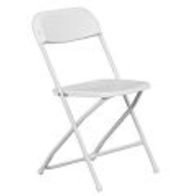 Where to find CHAIR WHITE FOLDING in Palatine