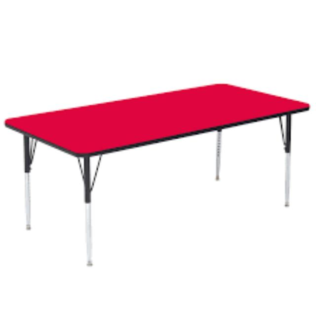Where to find CHILDREN S TABLE, RED PLASTIC 6FT in Palatine